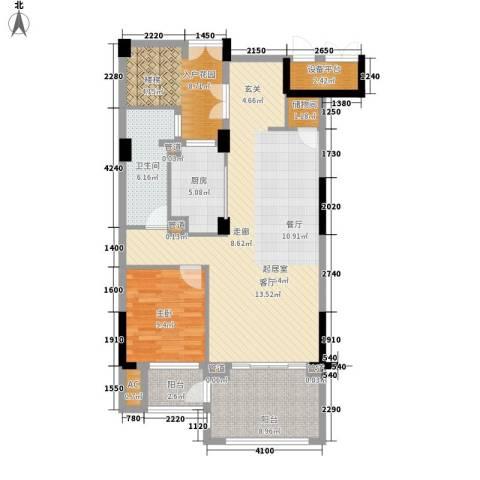 亲亲家园1室0厅1卫1厨121.00㎡户型图