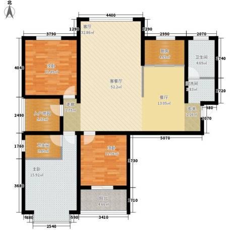 南海国际3室1厅2卫1厨164.00㎡户型图