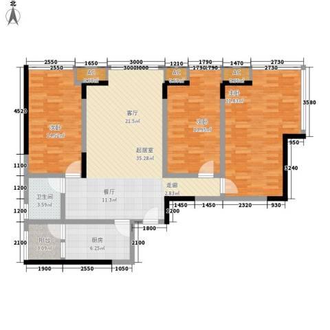 小天鹅花园3室0厅1卫1厨144.00㎡户型图