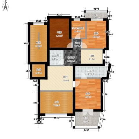 宁兴・杭湾名苑3室1厅2卫0厨253.00㎡户型图