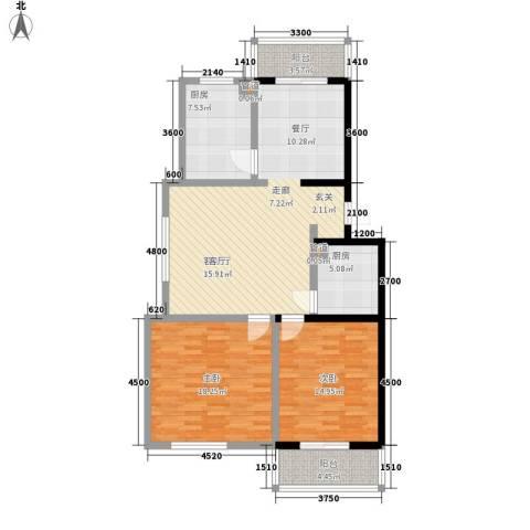 水岸康居2室1厅0卫2厨115.00㎡户型图