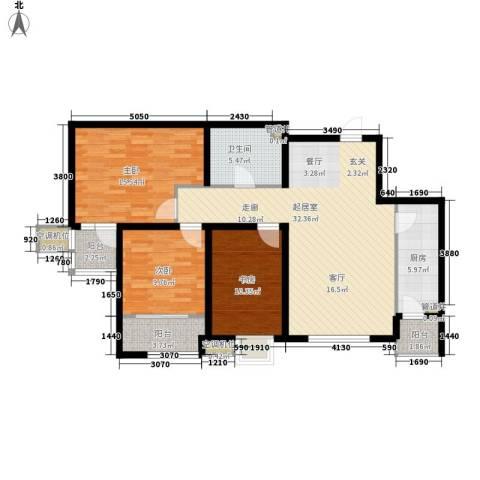 明湖・白鹭郡3室0厅1卫1厨103.00㎡户型图
