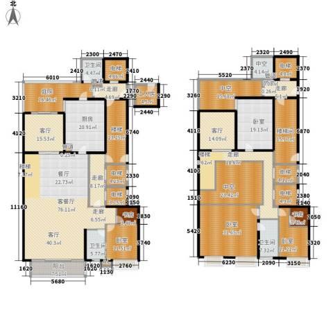 中海银海湾2室3厅3卫1厨457.00㎡户型图