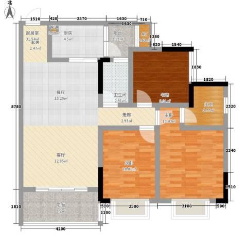 兴茂盛世华都3室0厅1卫1厨102.00㎡户型图