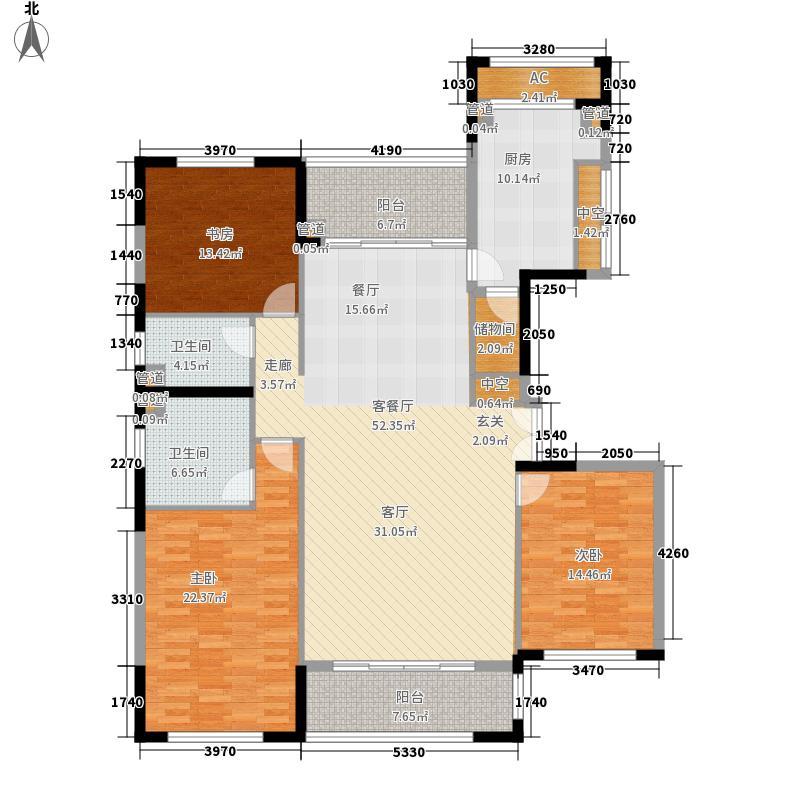 太湖锦园162.00㎡太湖锦园户型图宽景公寓C3户型3室2厅2卫户型3室2厅2卫