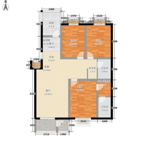 元丰怡家3室0厅2卫1厨123.00㎡户型图