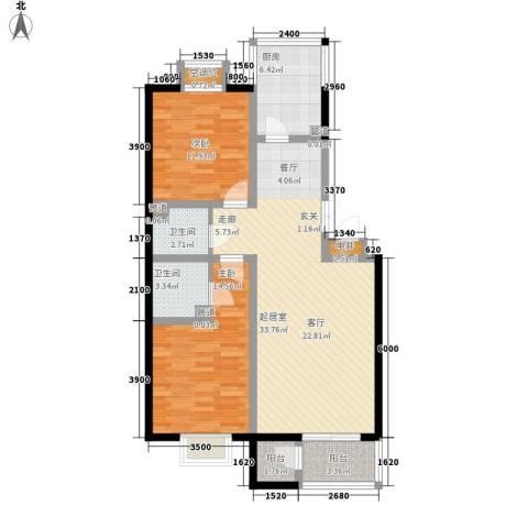 元丰怡家2室0厅2卫1厨94.00㎡户型图