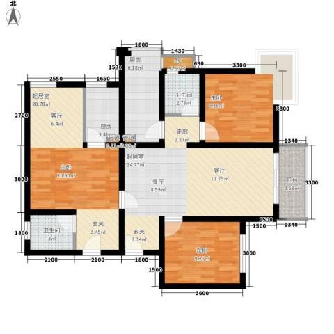 领地国际2室0厅2卫2厨122.00㎡户型图