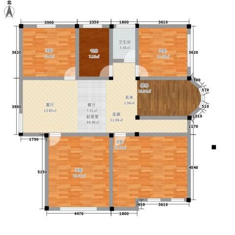 塑皇观云邸5室0厅1卫0厨269.00㎡户型图
