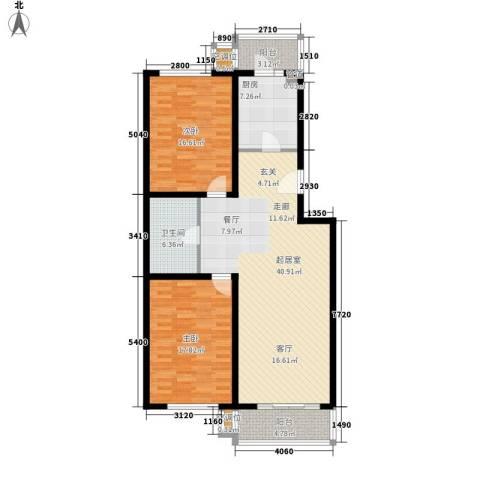悦盛园2室0厅1卫1厨111.00㎡户型图