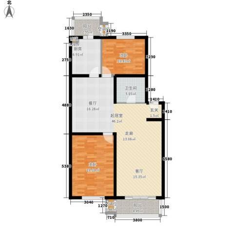 悦盛园2室0厅1卫1厨108.00㎡户型图