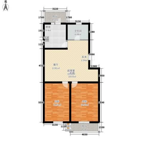 悦盛园2室0厅1卫1厨110.00㎡户型图