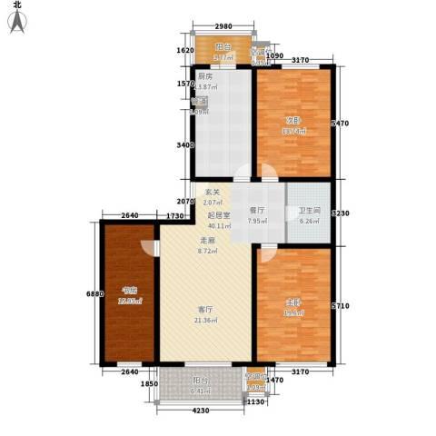 悦盛园3室0厅1卫1厨143.00㎡户型图