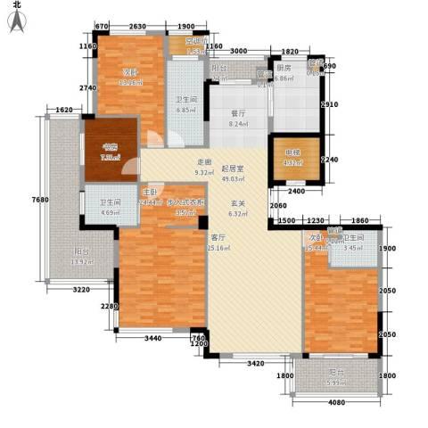 盛世香园4室0厅3卫1厨182.00㎡户型图