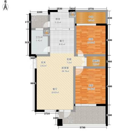 狮山峰汇2室0厅1卫1厨147.00㎡户型图