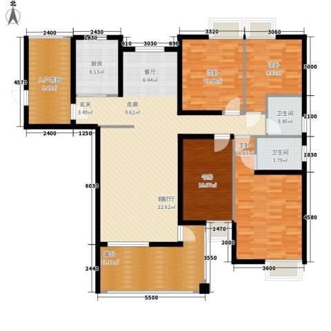 云河湾4室1厅2卫1厨156.00㎡户型图