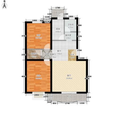 天坛大厦2室1厅1卫1厨108.00㎡户型图