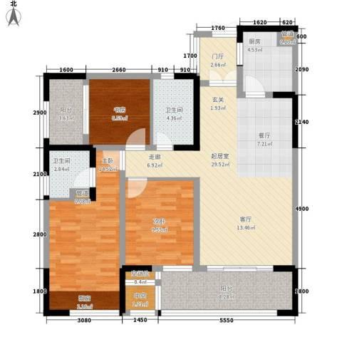泰悦湾3室0厅2卫1厨112.00㎡户型图