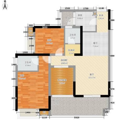 小天鹅花园2室0厅2卫1厨107.00㎡户型图