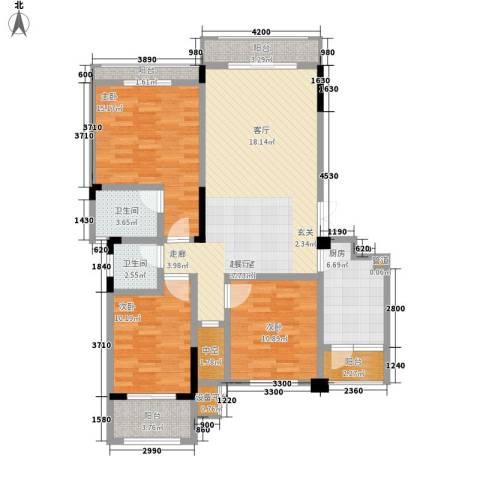 宇界维诗卡3室0厅2卫1厨115.00㎡户型图