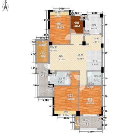亲亲家园4室0厅2卫1厨137.00㎡户型图