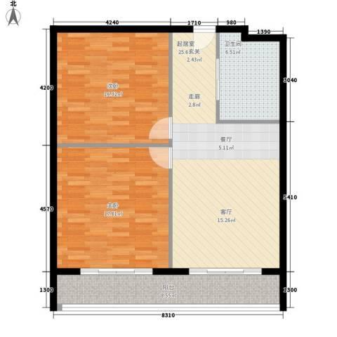 颐合庄园2室0厅1卫0厨83.25㎡户型图