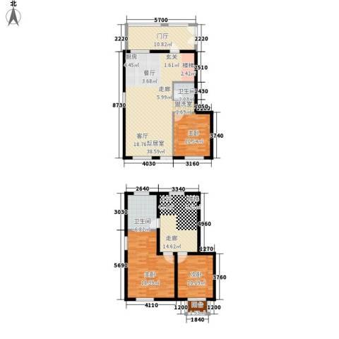 颐合庄园3室0厅2卫0厨128.08㎡户型图