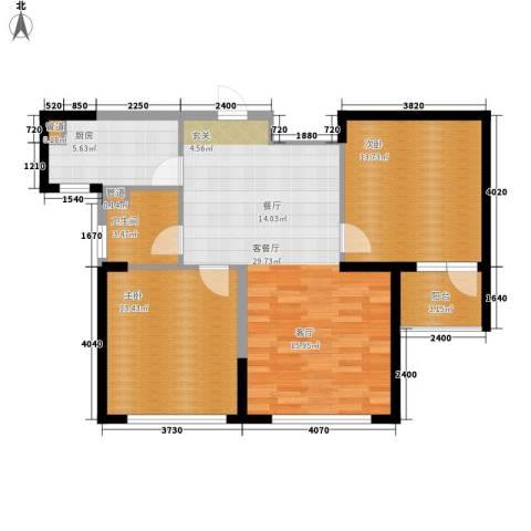 六合・嘉际2室1厅1卫1厨78.00㎡户型图