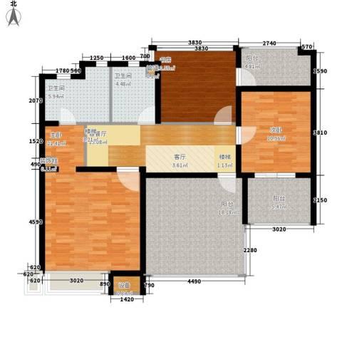 城南世家3室1厅2卫0厨95.92㎡户型图