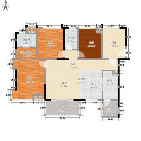 桂冠京华3室0厅2卫1厨167.00㎡户型图