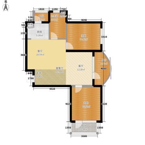 六合・嘉际2室1厅1卫0厨89.00㎡户型图