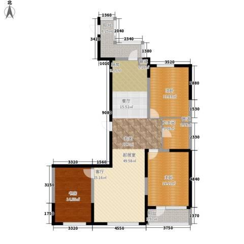 六合・嘉际3室0厅1卫0厨124.00㎡户型图