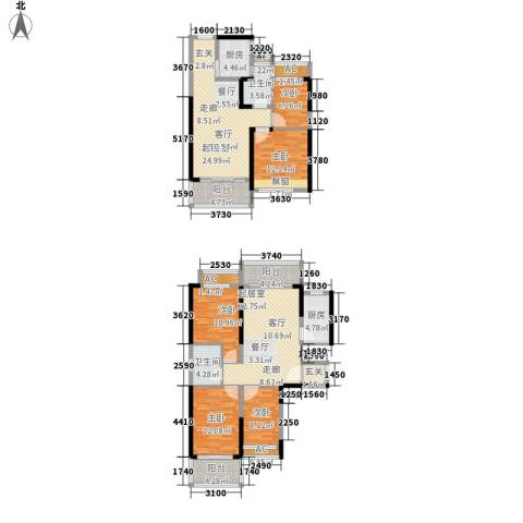 恒大・名都5室0厅2卫2厨195.00㎡户型图