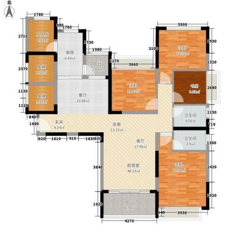 恒大・名都4室0厅2卫1厨158.00㎡户型图