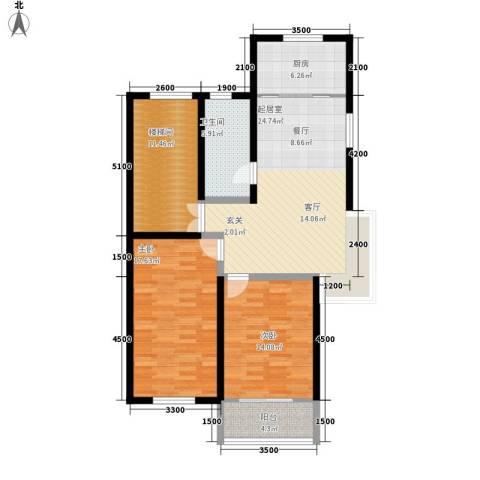 飞英家园2室0厅1卫1厨90.00㎡户型图