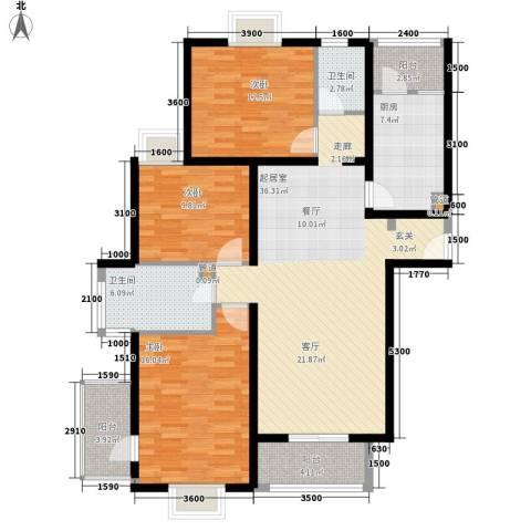 博雅德园3室0厅2卫1厨145.00㎡户型图