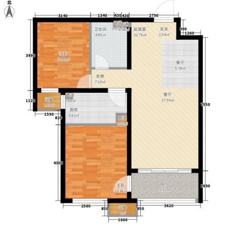 丽景御园2室0厅1卫1厨110.00㎡户型图