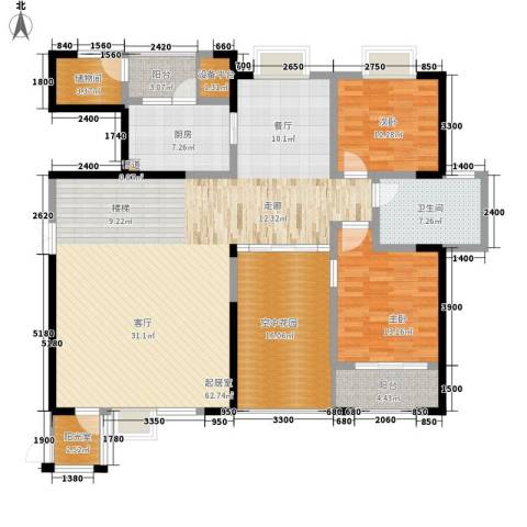 长沙嘉华城2室0厅1卫1厨226.00㎡户型图