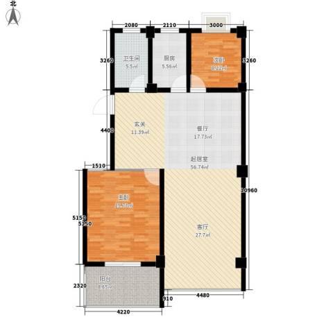 银河景苑2室0厅1卫1厨116.00㎡户型图