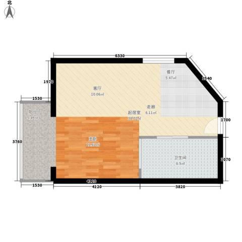 创富商务公寓1卫0厨62.00㎡户型图