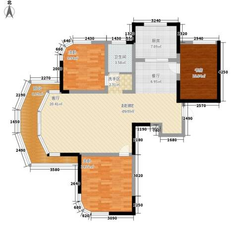 丰和新城3室0厅1卫1厨115.00㎡户型图