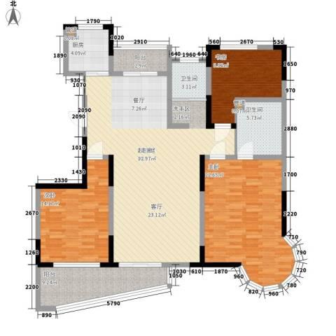 丰和新城3室0厅2卫1厨134.00㎡户型图