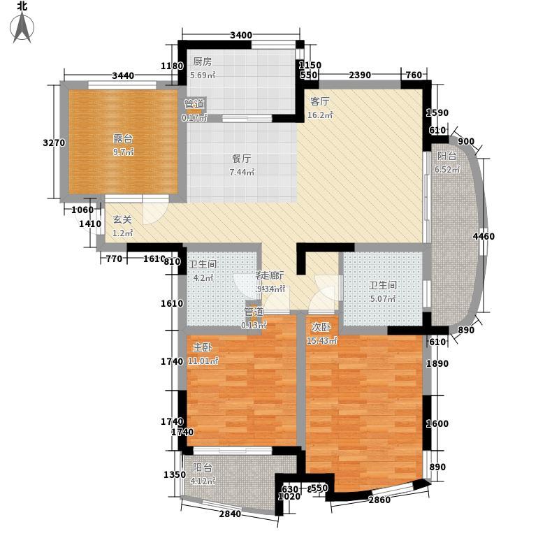 世纪东山111.00㎡3期35、36#楼标面积11100m户型