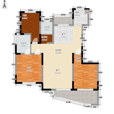 丰和新城3室0厅2卫1厨124.00㎡户型图