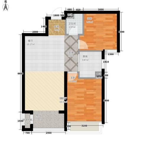 嘉汇城2室1厅1卫1厨82.00㎡户型图
