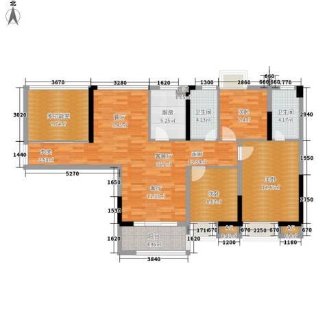 滨江公馆二期3室1厅2卫1厨95.20㎡户型图
