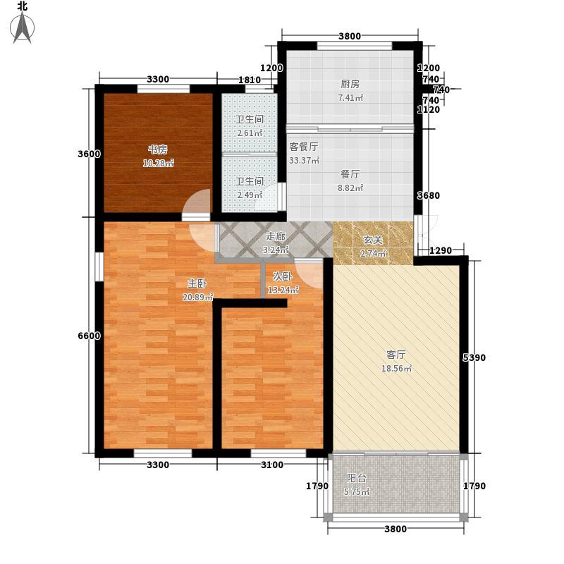 潜庄公寓117.50㎡普通住宅面积11750m户型