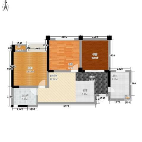成都合院壹品3室0厅1卫1厨98.00㎡户型图