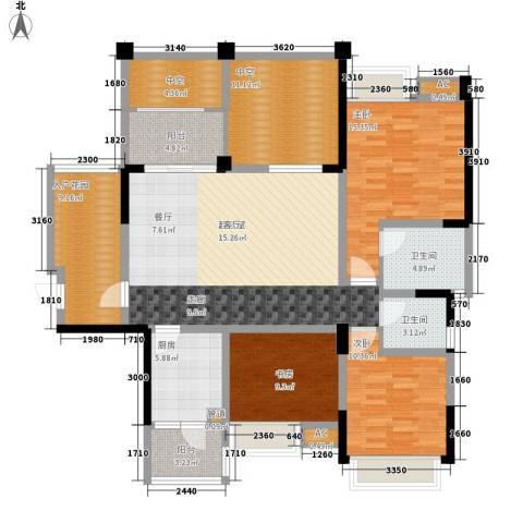 成都合院壹品3室0厅2卫1厨120.00㎡户型图