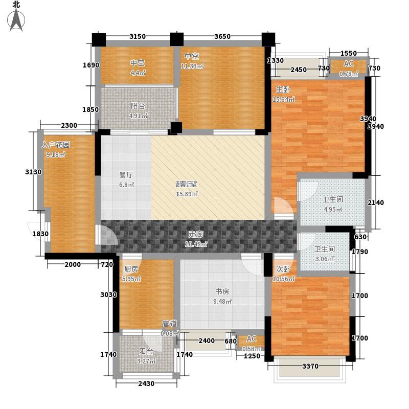 成都合院壹品120.00㎡3号楼单页A1户型3室2厅2卫1厨